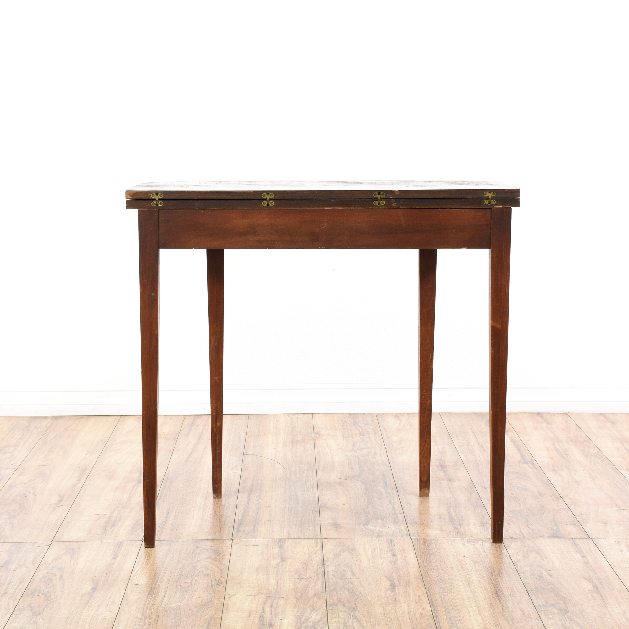 Fold Out Swivel Top Console Table Desk Loveseat Vintage