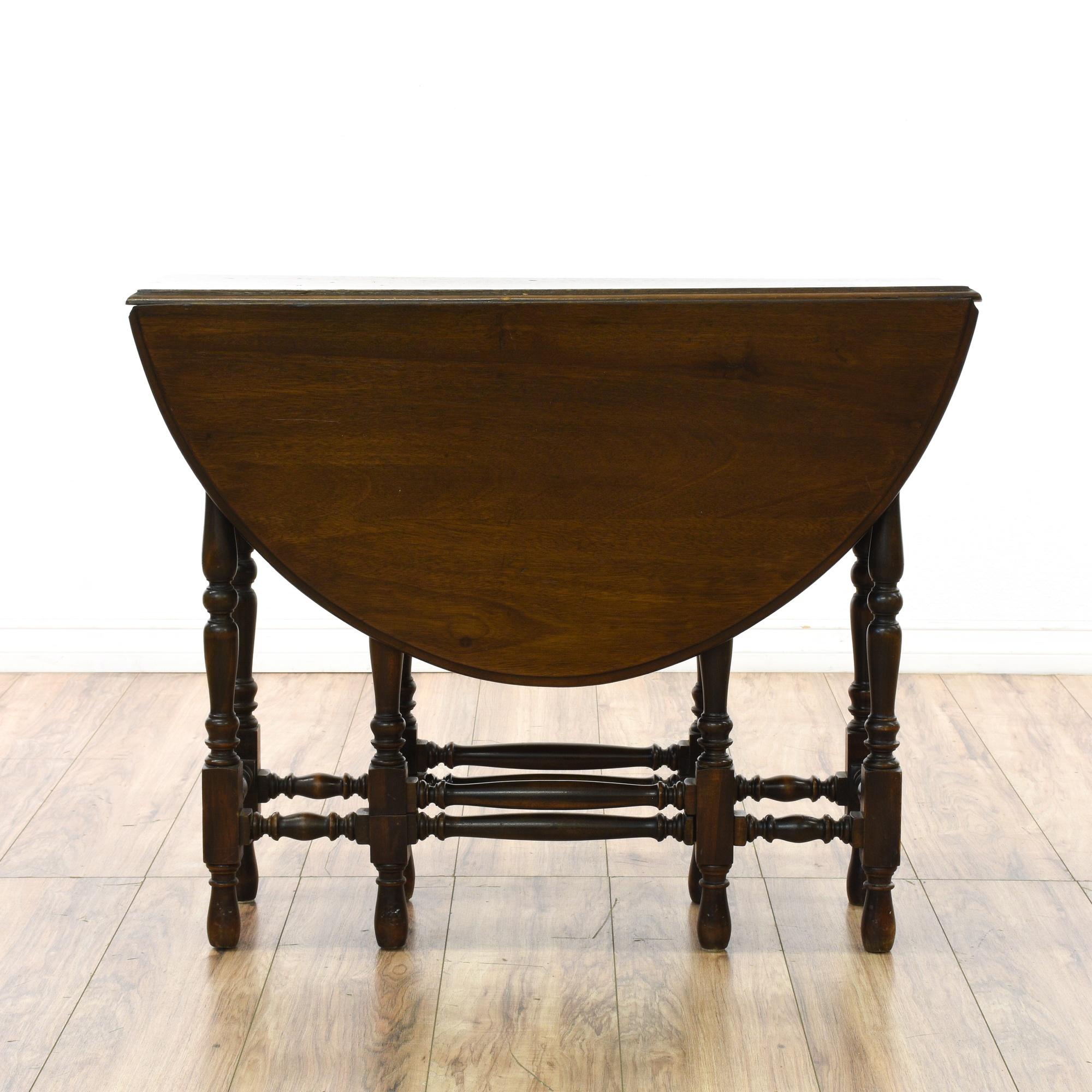 Dining Room Furniture San Diego: Dark Wood Country Farmhouse Drop Leaf Dining Table