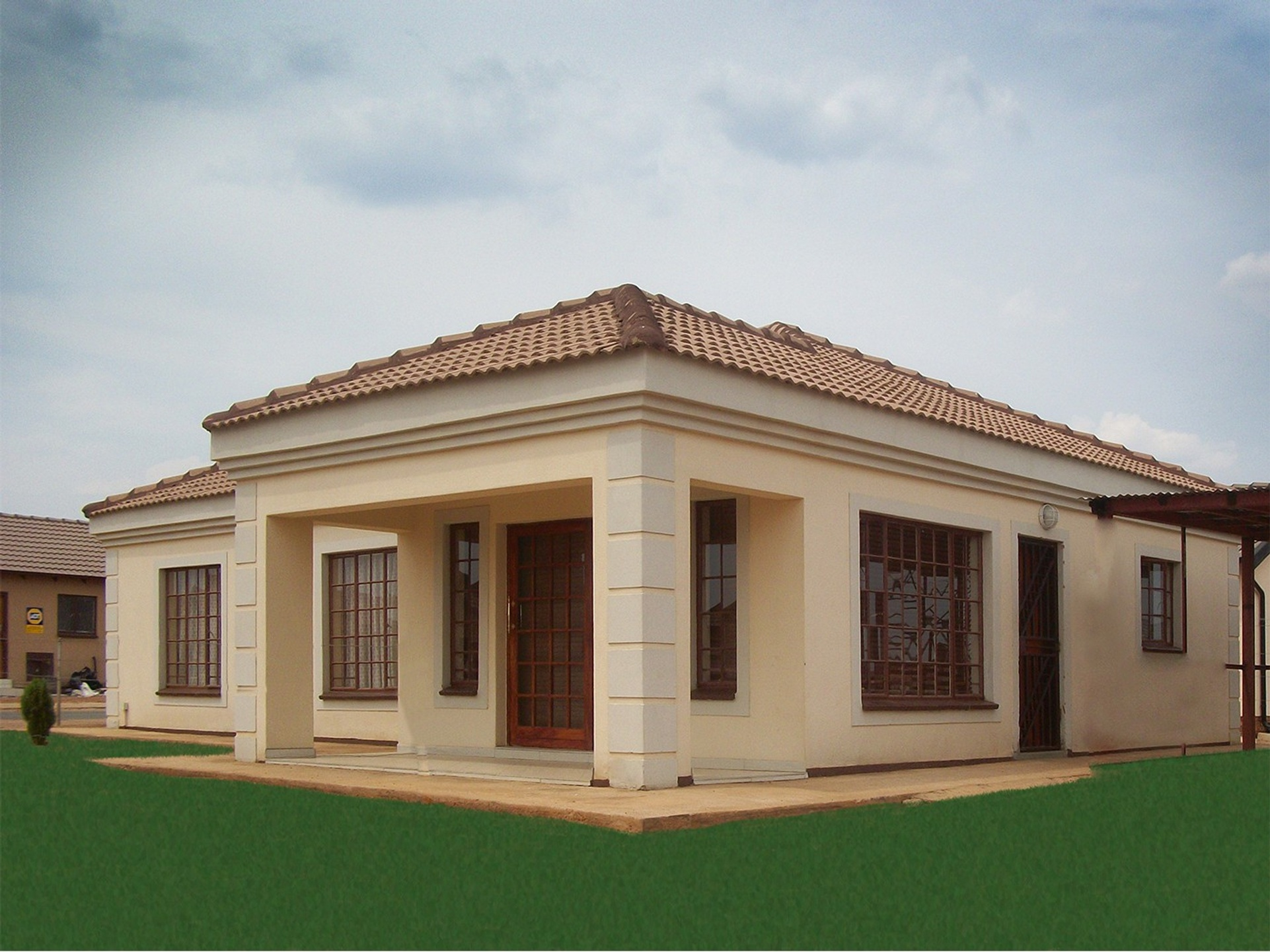 3 bedroom tuscan house plans in south africa for Modern south african home designs