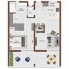 1 Bed (smallest and largest options displayed)