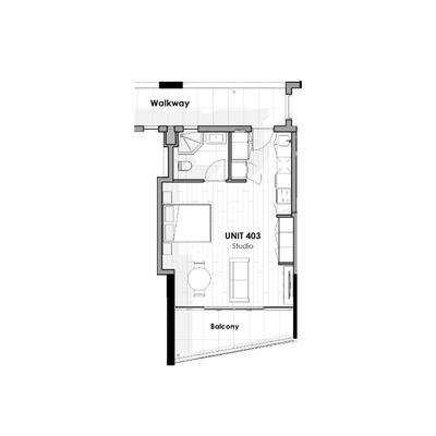 Unit 403 - Studio