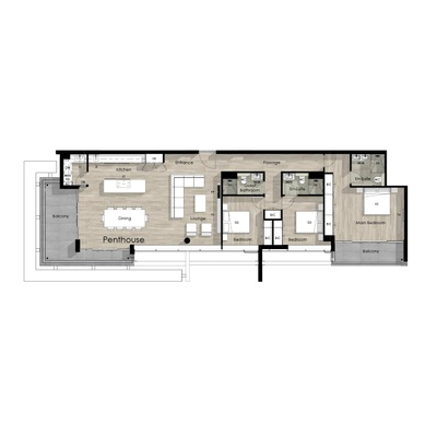 Penthouse unit - 3202