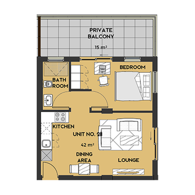 1 Bedroom style unit