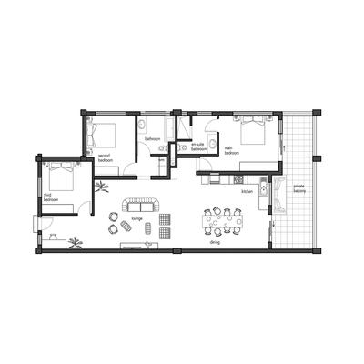 3 Bed - 131sqm Unit