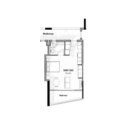 Unit 303 - Studio