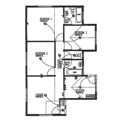Plan 80 - 3 Bedroom