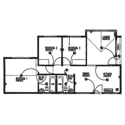 Plan 75 - 3 Bedroom