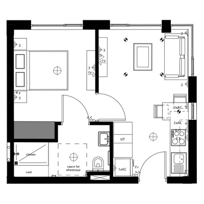 Assisted Living Unit Type B