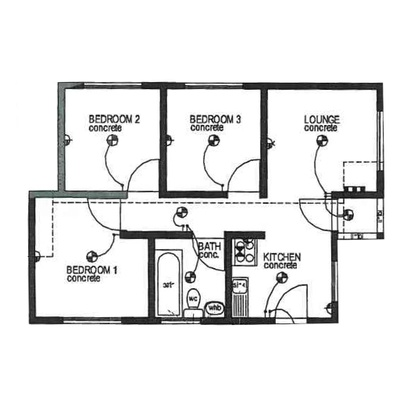 Plan 50 - 2 Bedroom
