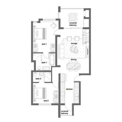 2 Bed with optional loft