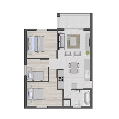 Sapphire Mews - 3 Bed