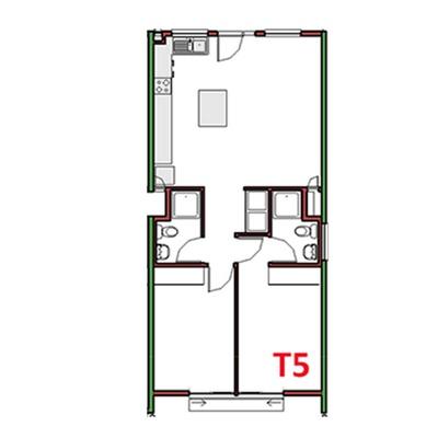 2 Bed 2 Bath - T5