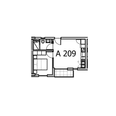 39 - 41sqm 1Bed Unit