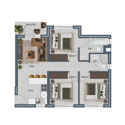 Apartment 64sqm