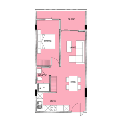 1 Bed Type B3