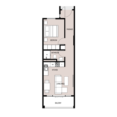 1 BED TYPE B 2