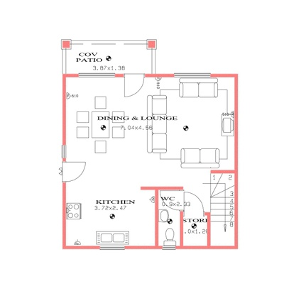 113sqm 3Bed Duplex