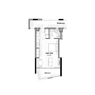 Unit 202 - Studio