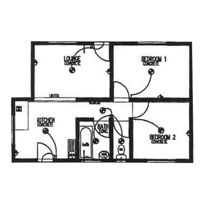 Plan 55 - 2 Bedroom