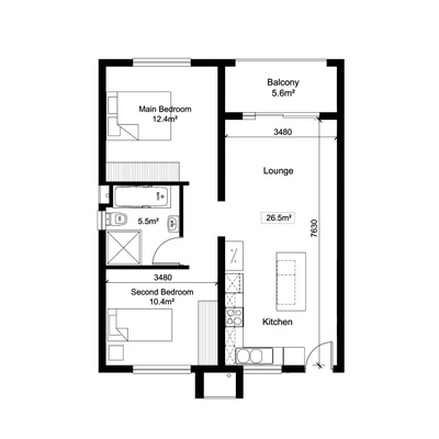 2Bed1Bath - Alt 3