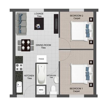 2 Bed Unit