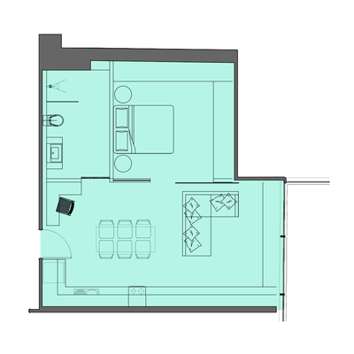 1 Bed Type 2