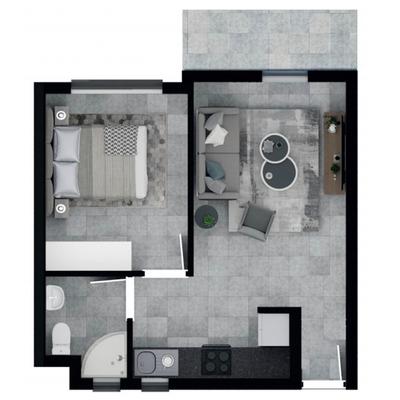 36.8m2 Apartment