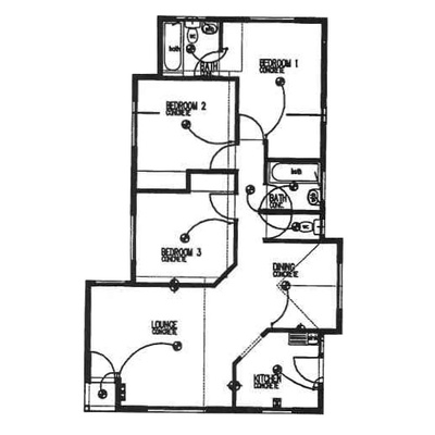 Plan 95 - 3 Bedroom