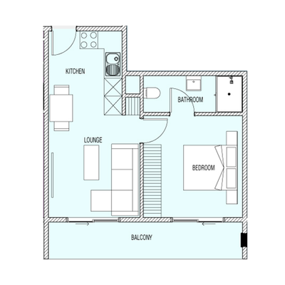 1 Bed Type B1