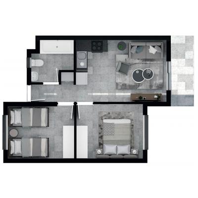 48.5m2 Apartment