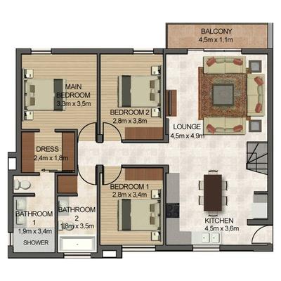 4 Bed 3 Bath with loft study