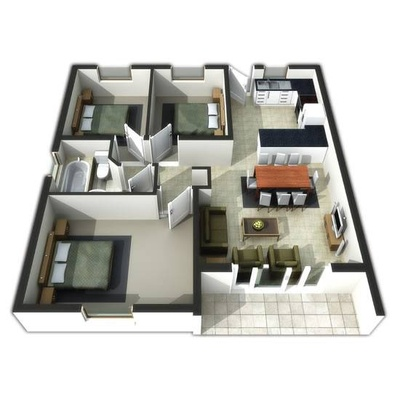 Three Bedroom Apartment