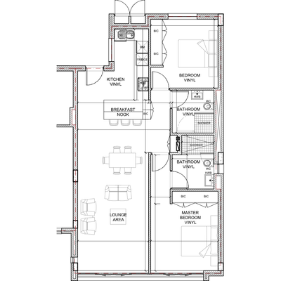2 Bed standard layout