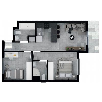 56.4m2 Apartment