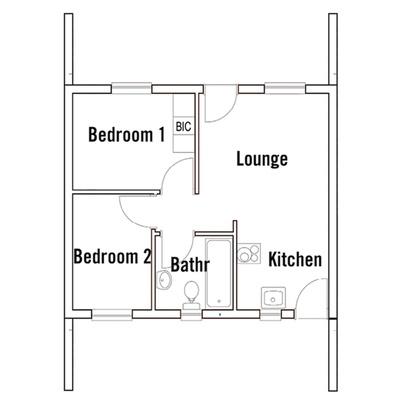 Simplex 2 bed 1 bath