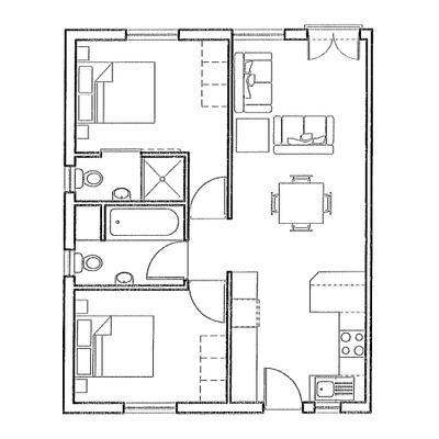 Apartment - 2 Bedroom - 60sqm