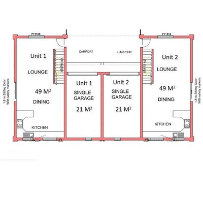 2 Bed 1 Bath Duplex