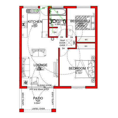 Apartment Plan 75,641 sqm