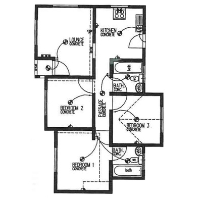 Plan 65 - 3 Bedroom