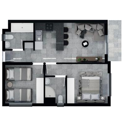 54.8m2 Apartment