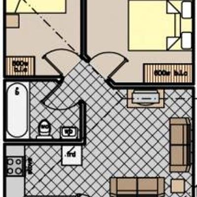 Unit Type C - 2 Bedroom