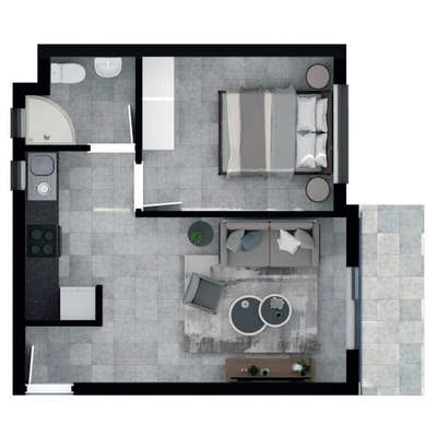 37.7m2 Apartment