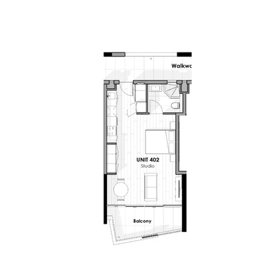 Unit 402 - Studio