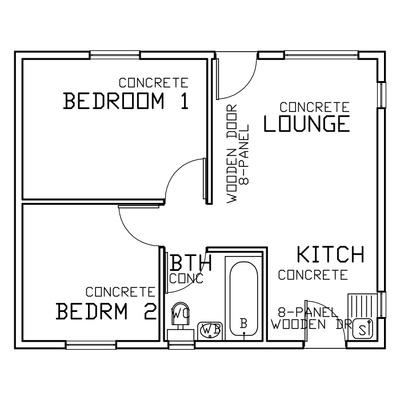 45sqm (2 Bed 1 Bath)