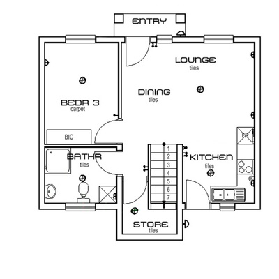 Bungalow 3 Bed 2 Bath