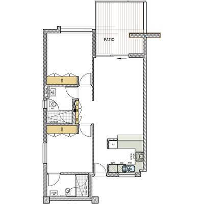 2 Bed Alt layout