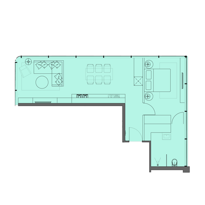 1 Bed Type 1
