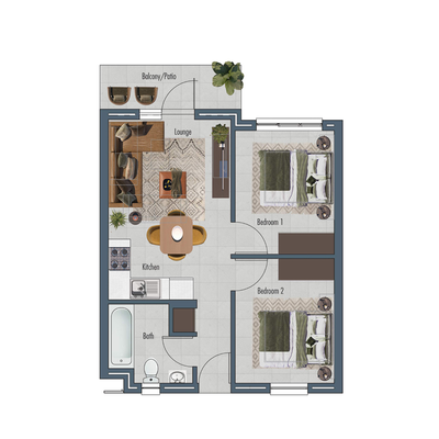 Apartment 48sqm