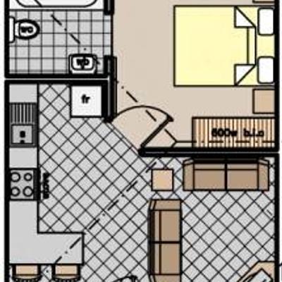 Unit Type B - 1 Bedroom