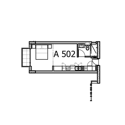 36sqm Studio Unit